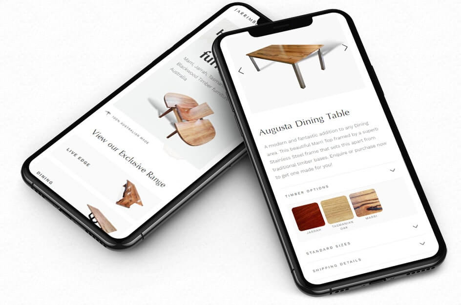 Mockup of responsive mobile compatible website